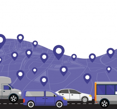 Graphic shows vehicles on the road. In partnership with the Regional Transportation Commission, we introduced FlexRIDE, a microtransit system that replaced inefficient routes.