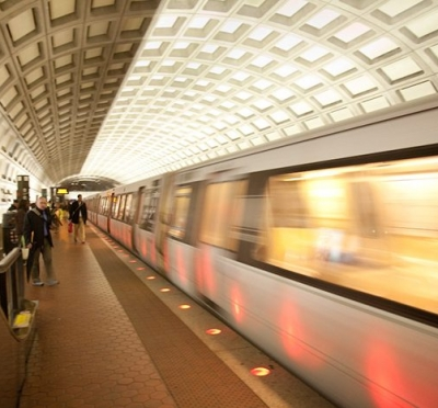 A Washington DC subway. With the goal of improving rider independence, MTM Transit partnered with WMATA to introduce travel training to its MetroAccess passengers.